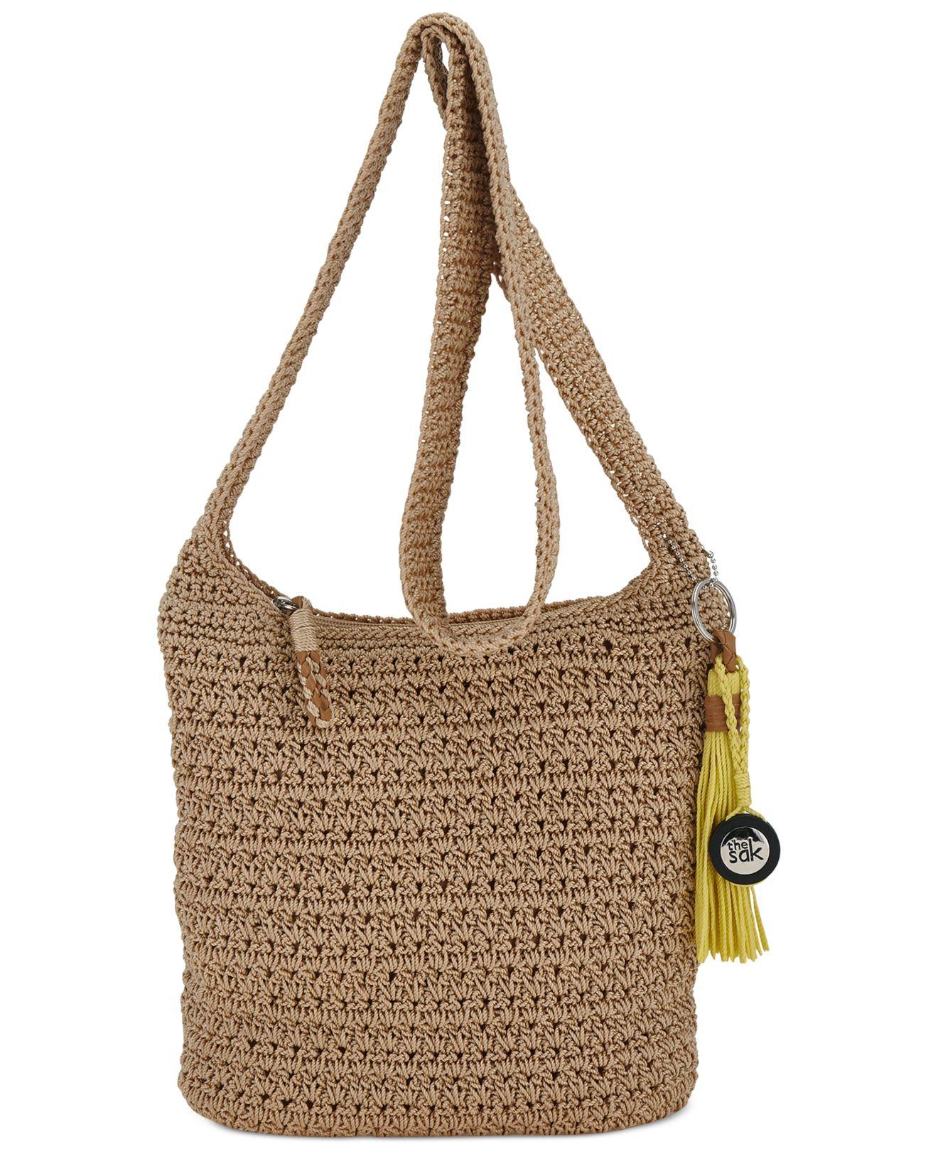 The sak Casual Classics Crochet Crossbody in Brown | Lyst