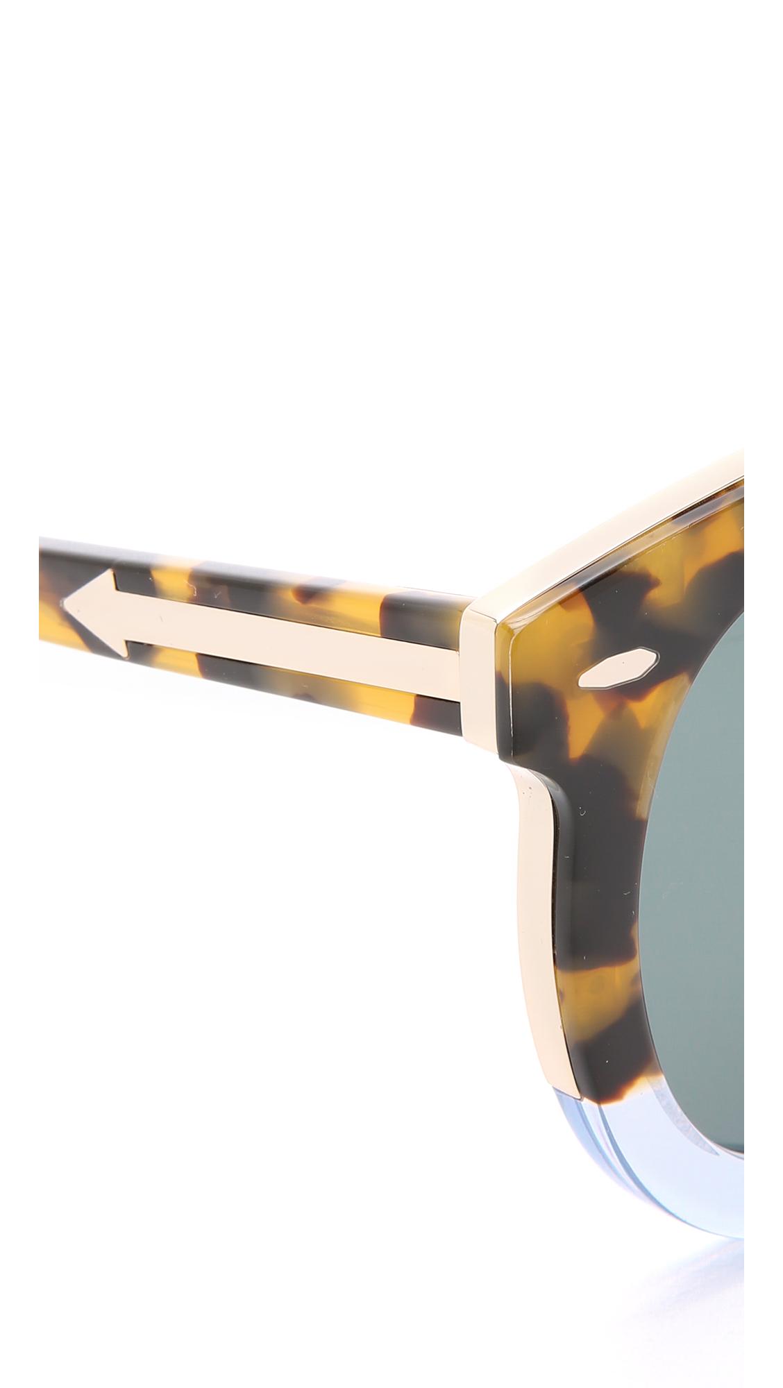 ff7078ad047 Lyst - Karen Walker Special Fit Super Duper Thistle Sunglasses in Brown