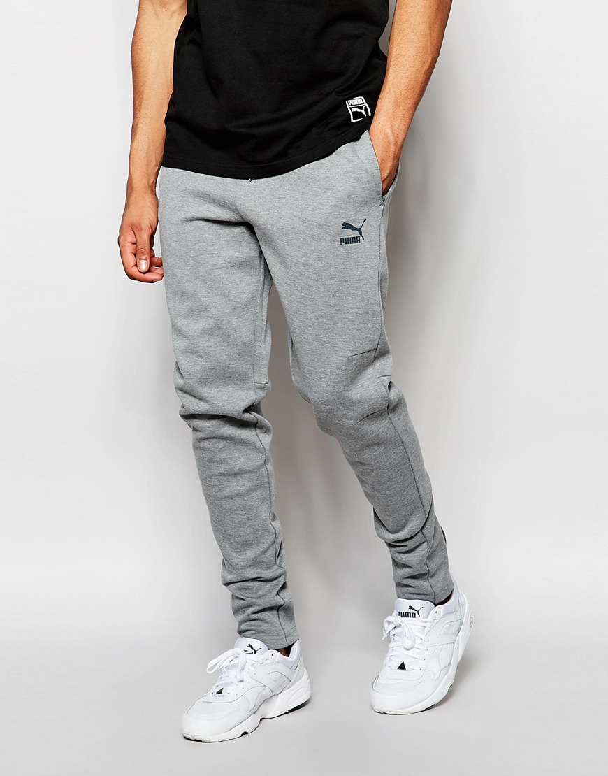 be39b636d587 Lyst - PUMA Evolution Skinny Joggers in Gray for Men