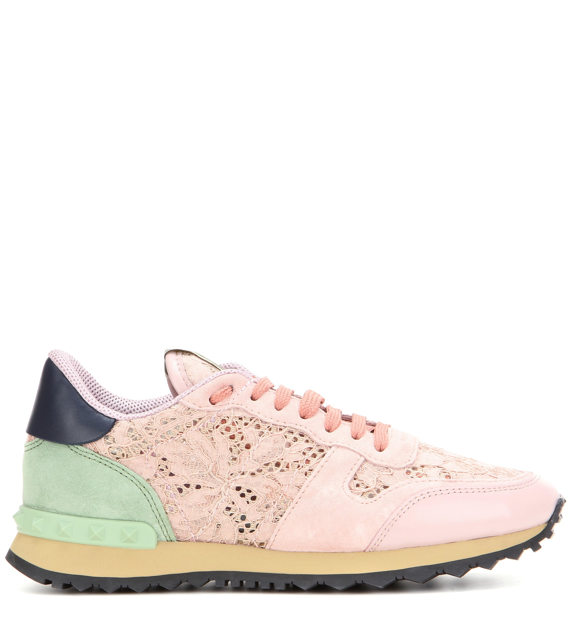 Valentino Lace Sneakers in Pink