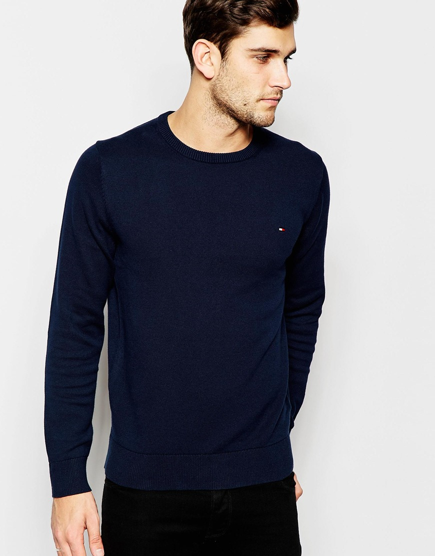 Tommy Hilfiger Spring Summer 2016 Women S Collection: Tommy Hilfiger Jumper With Crew Neck In Blue For Men