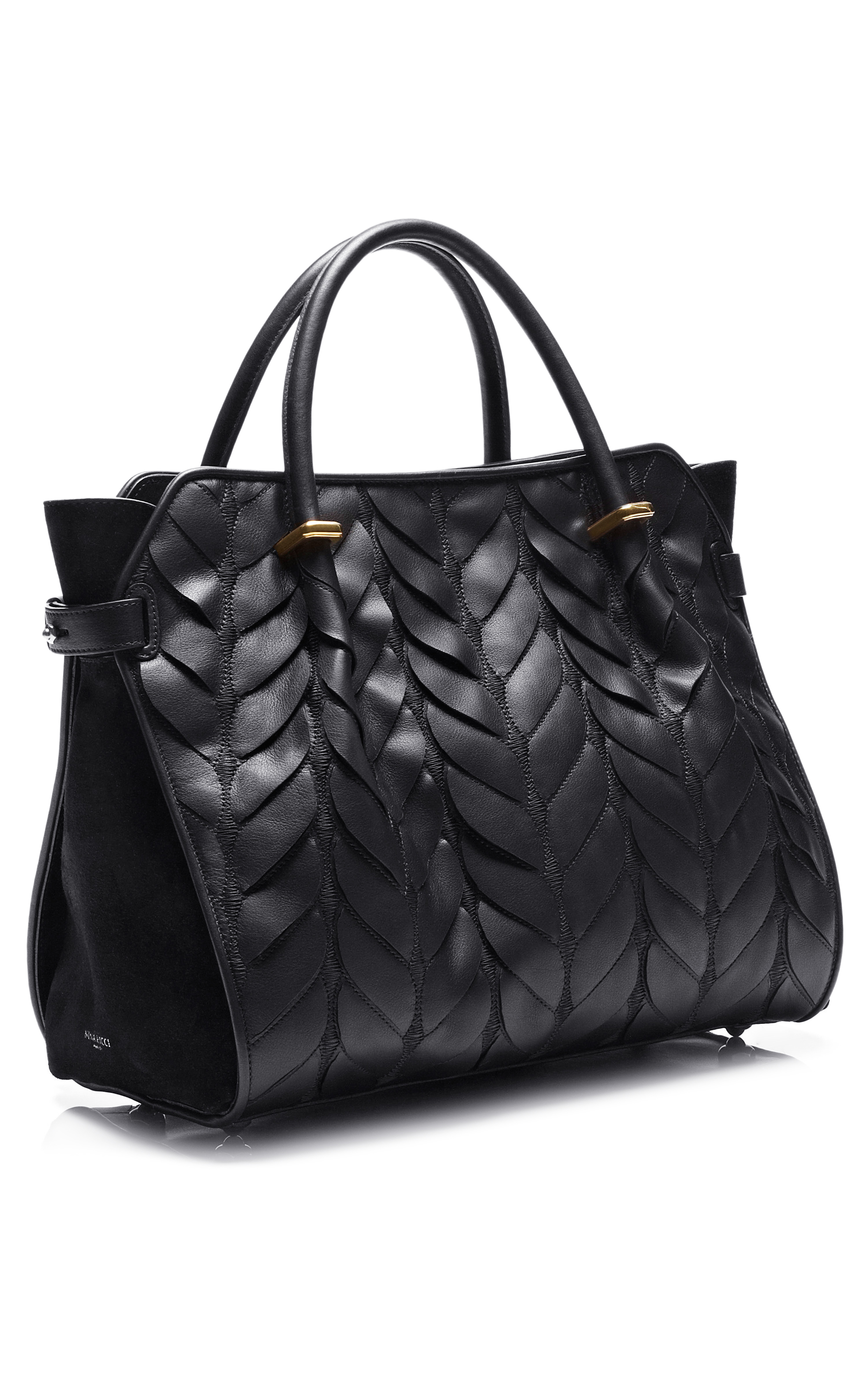 b3ce7f1e75 Lyst - Nina Ricci Quilted Calfskin Marche Small Bag in Black