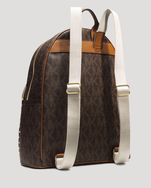 lyst michael michael kors backpack jet set item large studded in rh lyst com