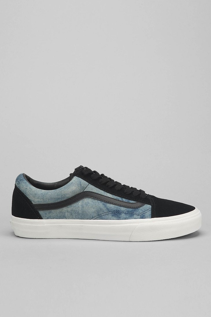 89b725b98d Lyst - Vans Old Skool Bleached Mens Denim Sneaker in Black for Men