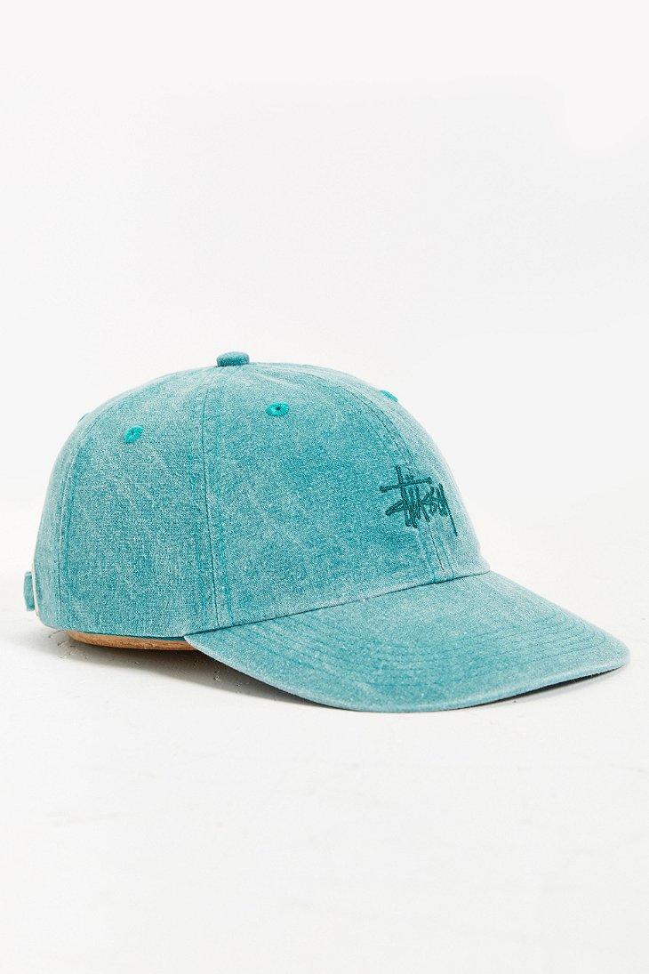 438a4cf4420 sweden stussy bucket hat stock logo pique black 1af46 27d32  new zealand lyst  stussy signature strapback hat in blue for men 99f39 4ff7a