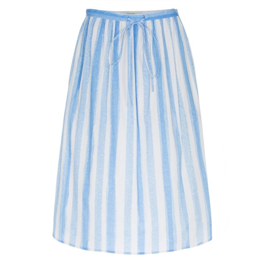 Paul smith Womenu0026#39;s Blue And White Striped Cotton Skirt in Blue | Lyst