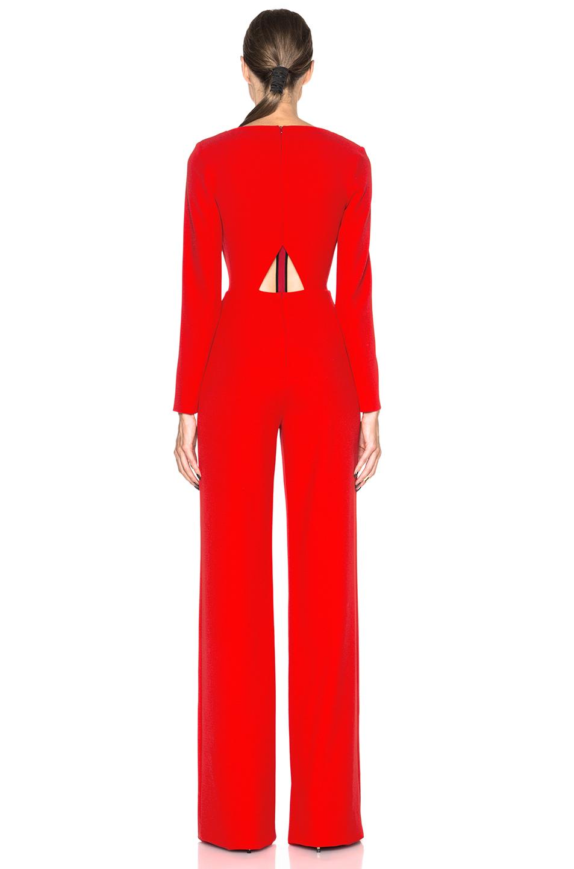 90d2e3eab696 Lyst - Roland Mouret Herring Viscose Crepe Jumpsuit in Red