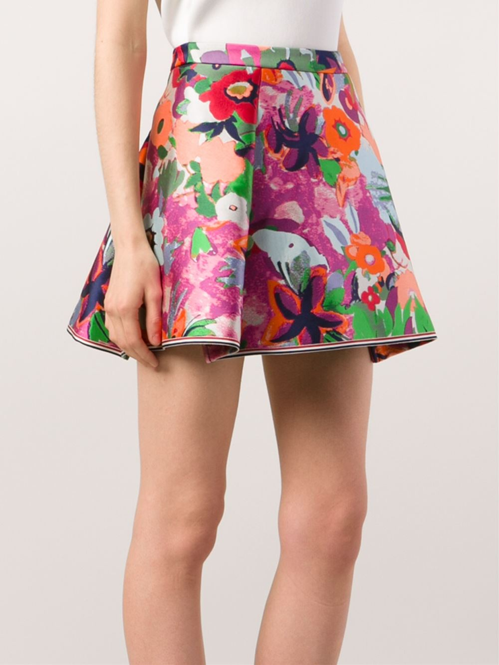 floral pleated skirt images