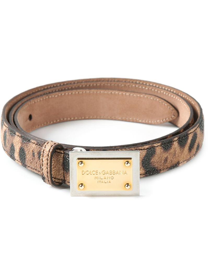 c1d98e6e7b882e Lyst - Dolce   Gabbana Leopard Print Belt in Brown