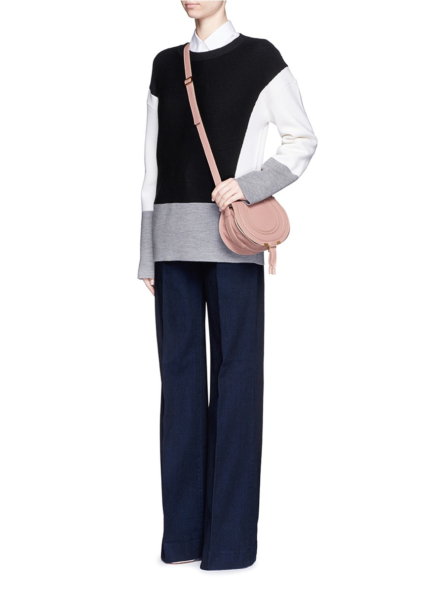 Chlo�� \u0026#39;marcie\u0026#39; Small Leather Crossbody Bag in Pink | Lyst