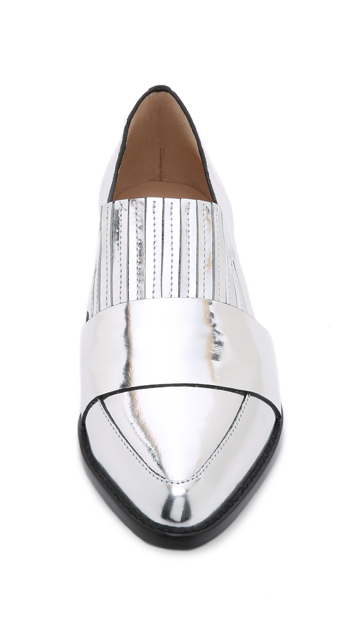 58be864fc9c Lyst - Loeffler Randall Rosa Loafers - Silver in Metallic
