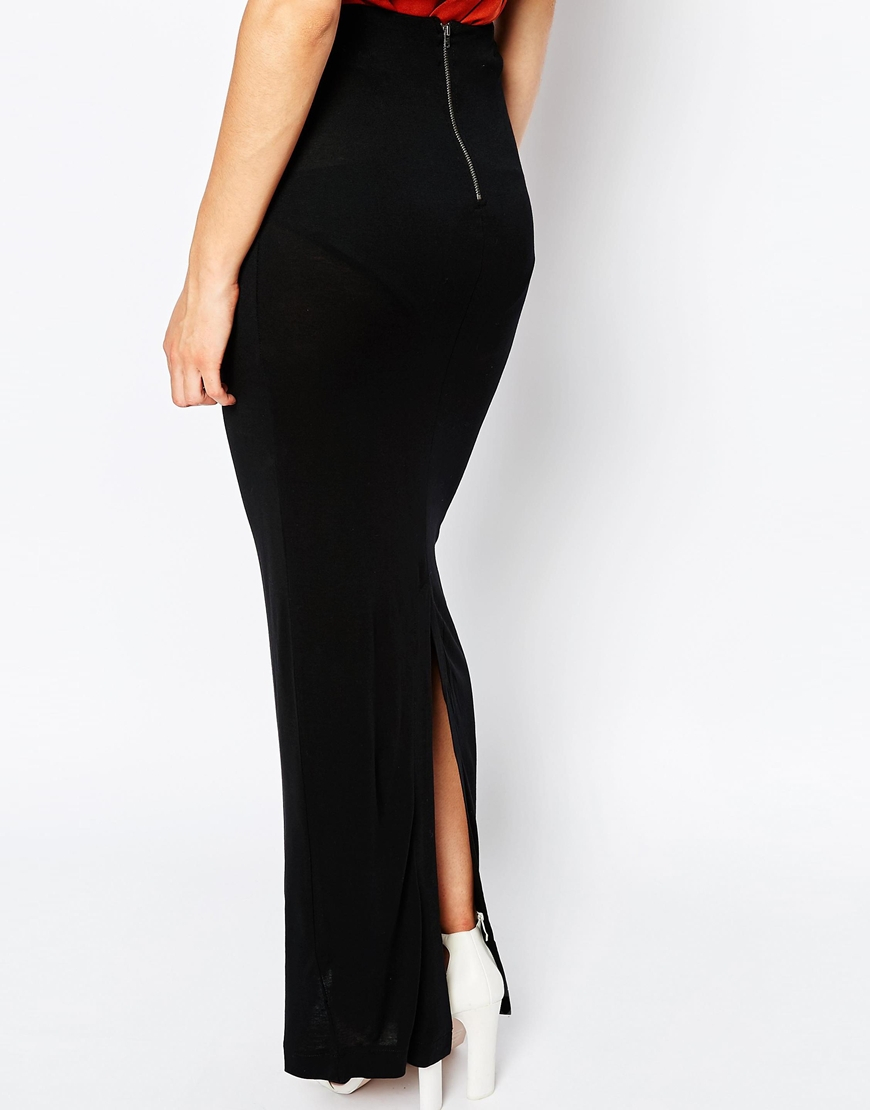 French connection golden maxi straight skirt black – Modern skirts ...