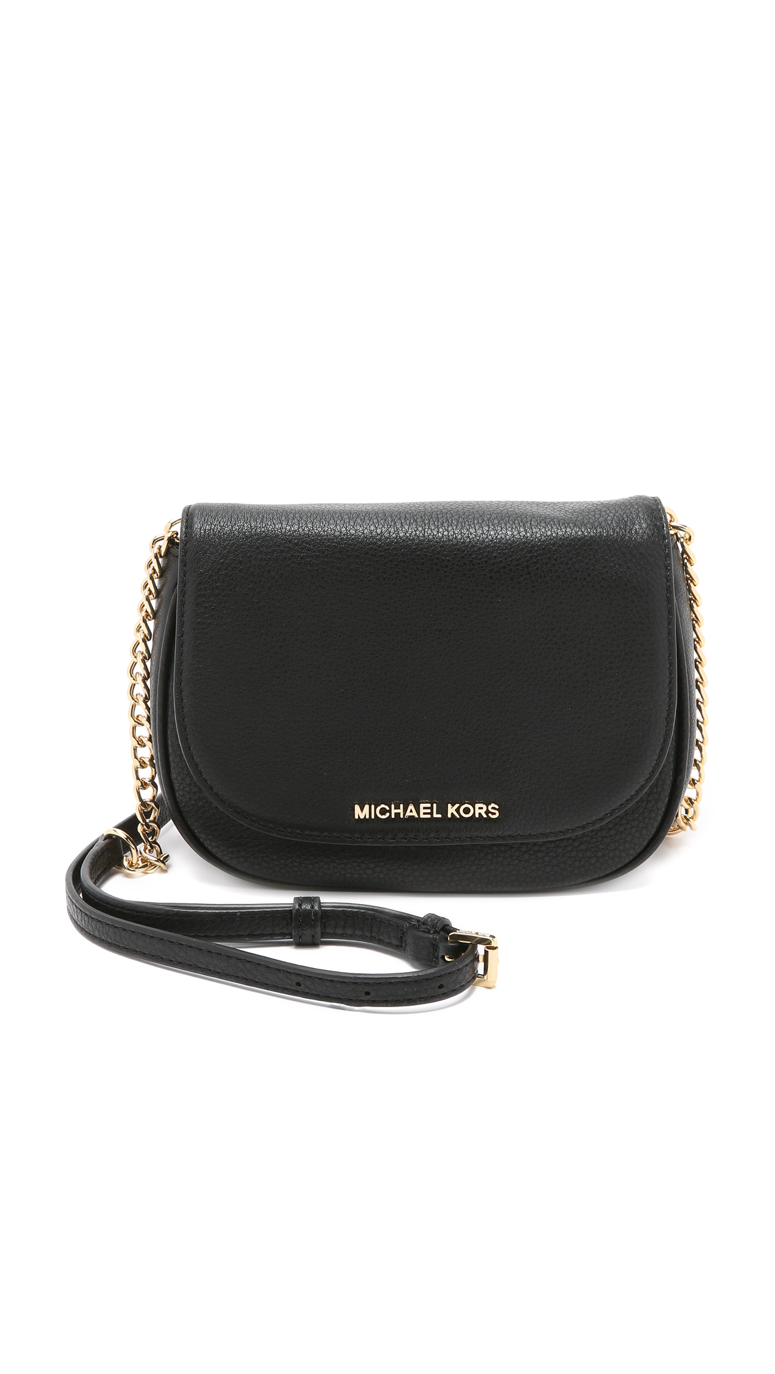 a1c36bc69a Lyst - MICHAEL Michael Kors Bedford Small Cross Body Bag - Black in ...