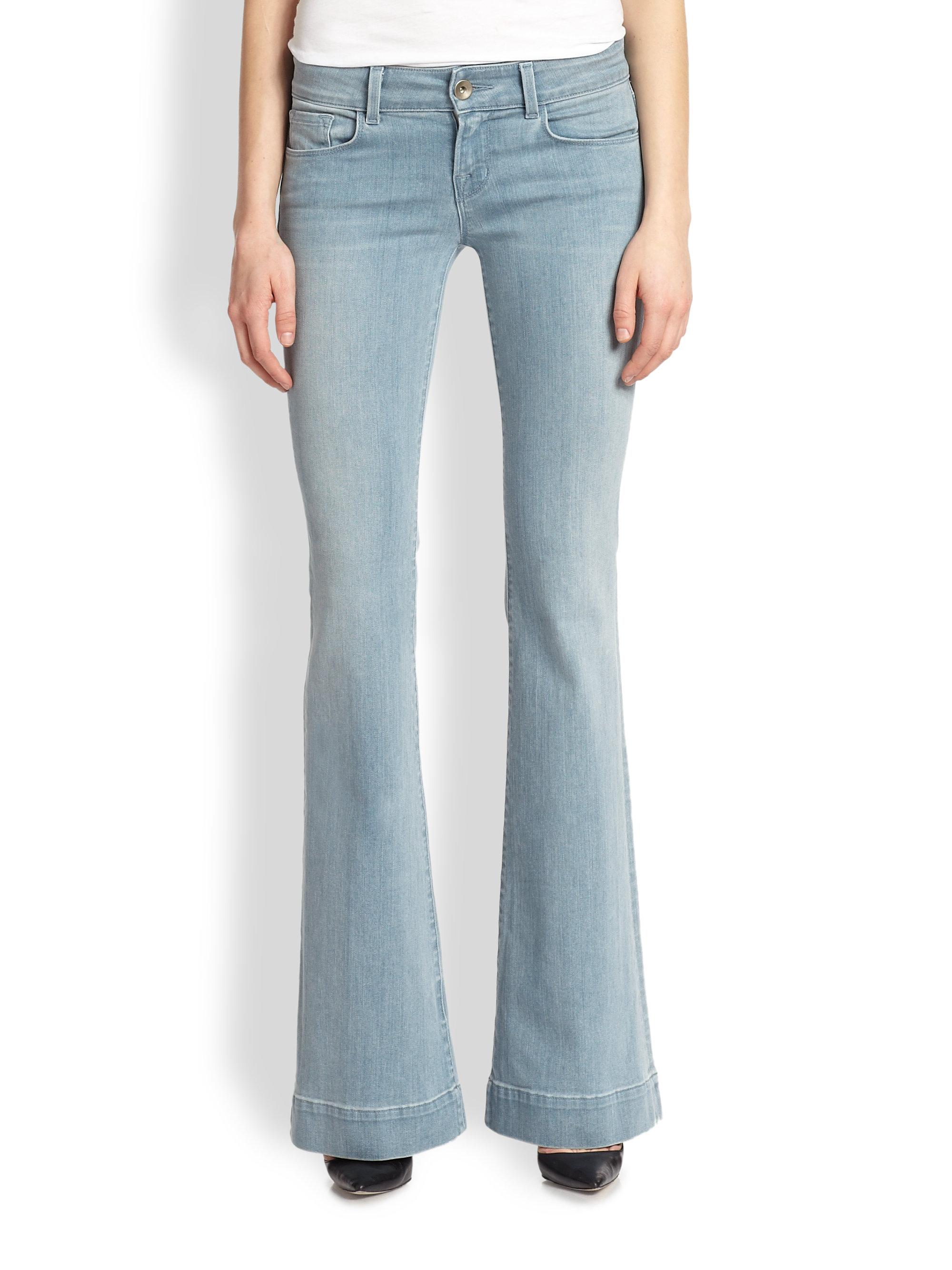 j brand lovestory flared jeans in blue palladium lyst. Black Bedroom Furniture Sets. Home Design Ideas