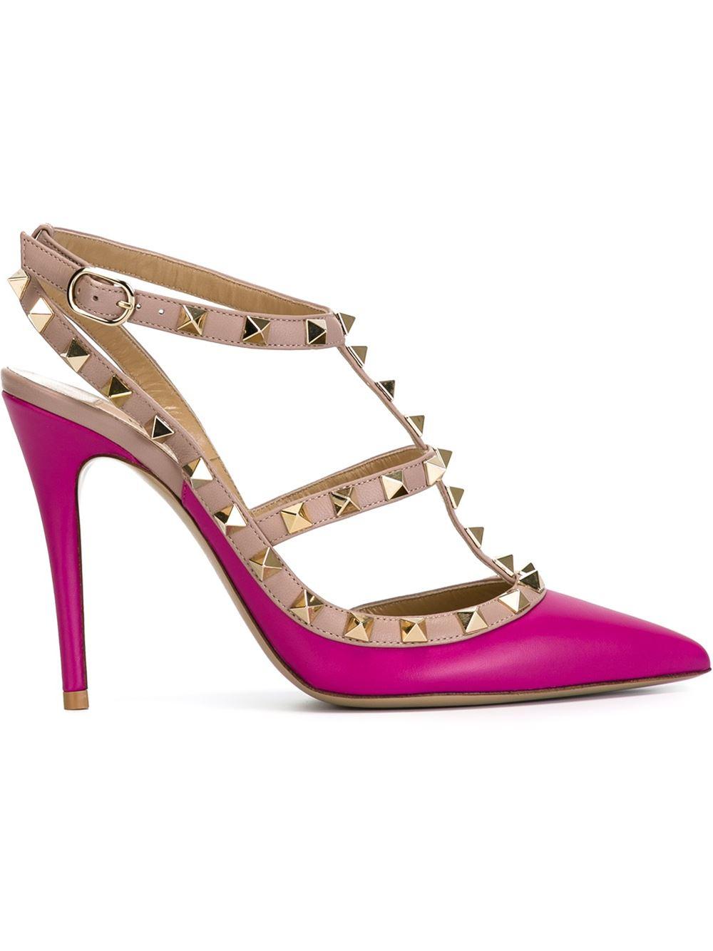 valentino rockstud pumps in pink lyst