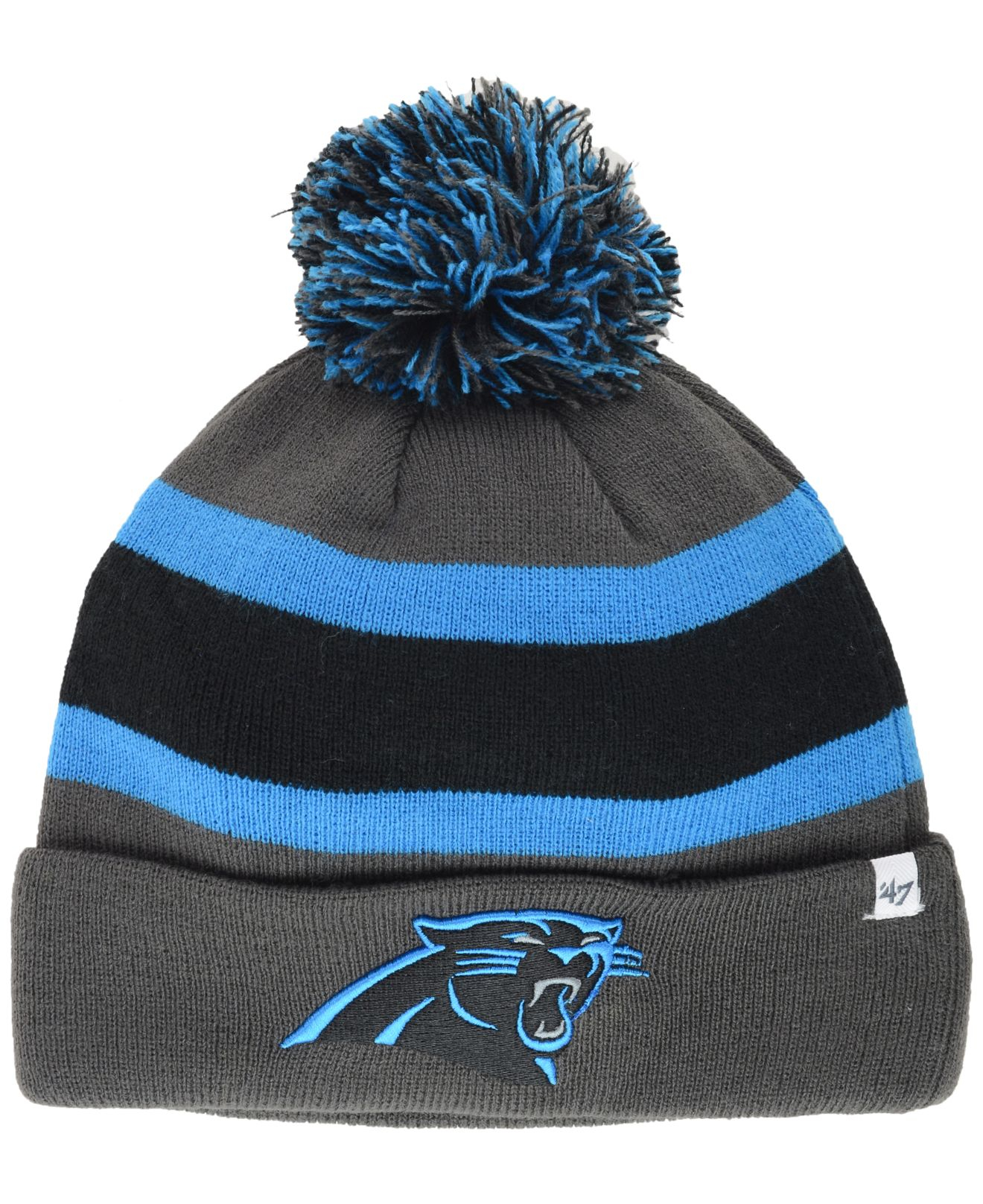... reduced new zealand lyst 47 brand carolina panthers breakaway knit hat  in gray for men ccfde 229213566