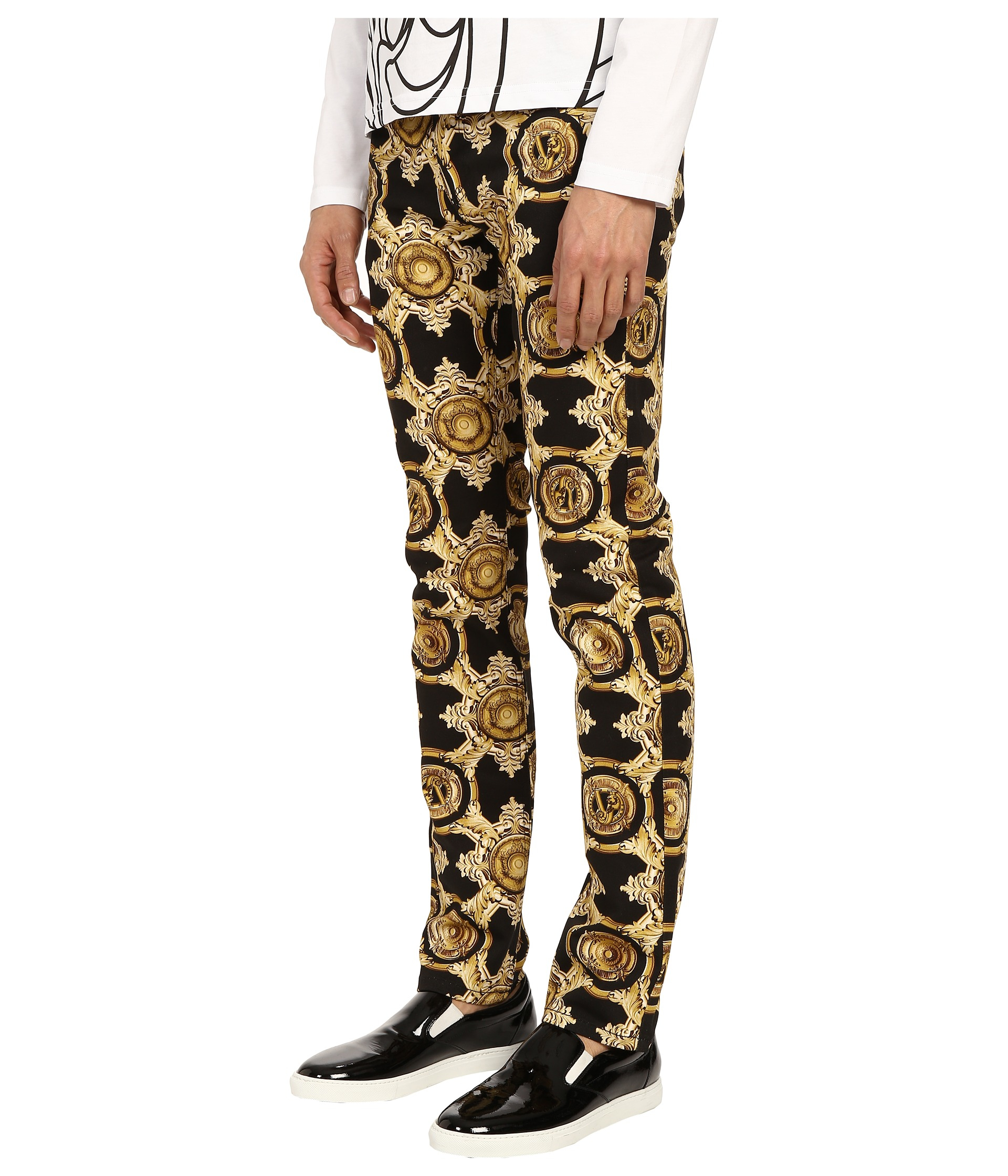 Lyst Versace Jeans Baroque Medallion Print Slim Fit