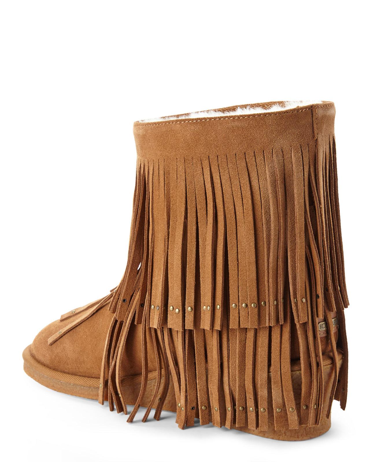 035940f0587 Lyst - Koolaburra Chestnut Real Fur Shearling Savannity Ii Boots in ...