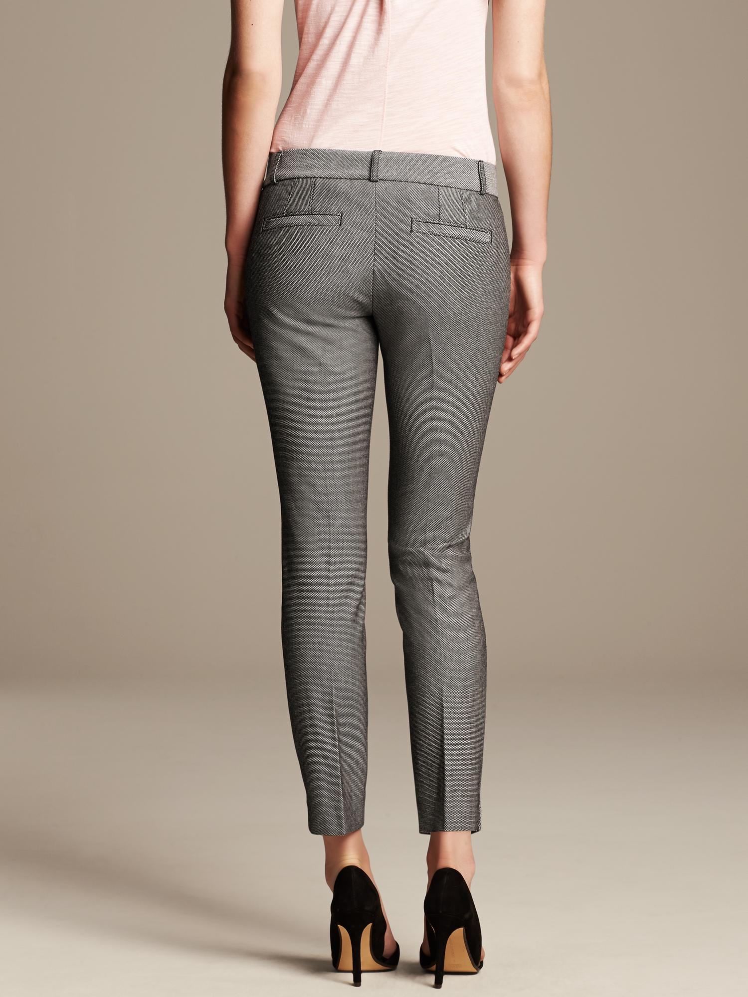 Lyst Banana Republic Sloan Fit Black And White Slim
