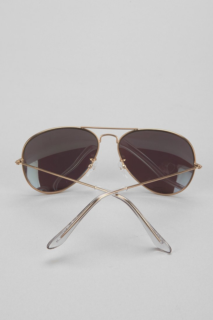 Urban Outfitters Mile High Aviator Sunglasses In Blue For