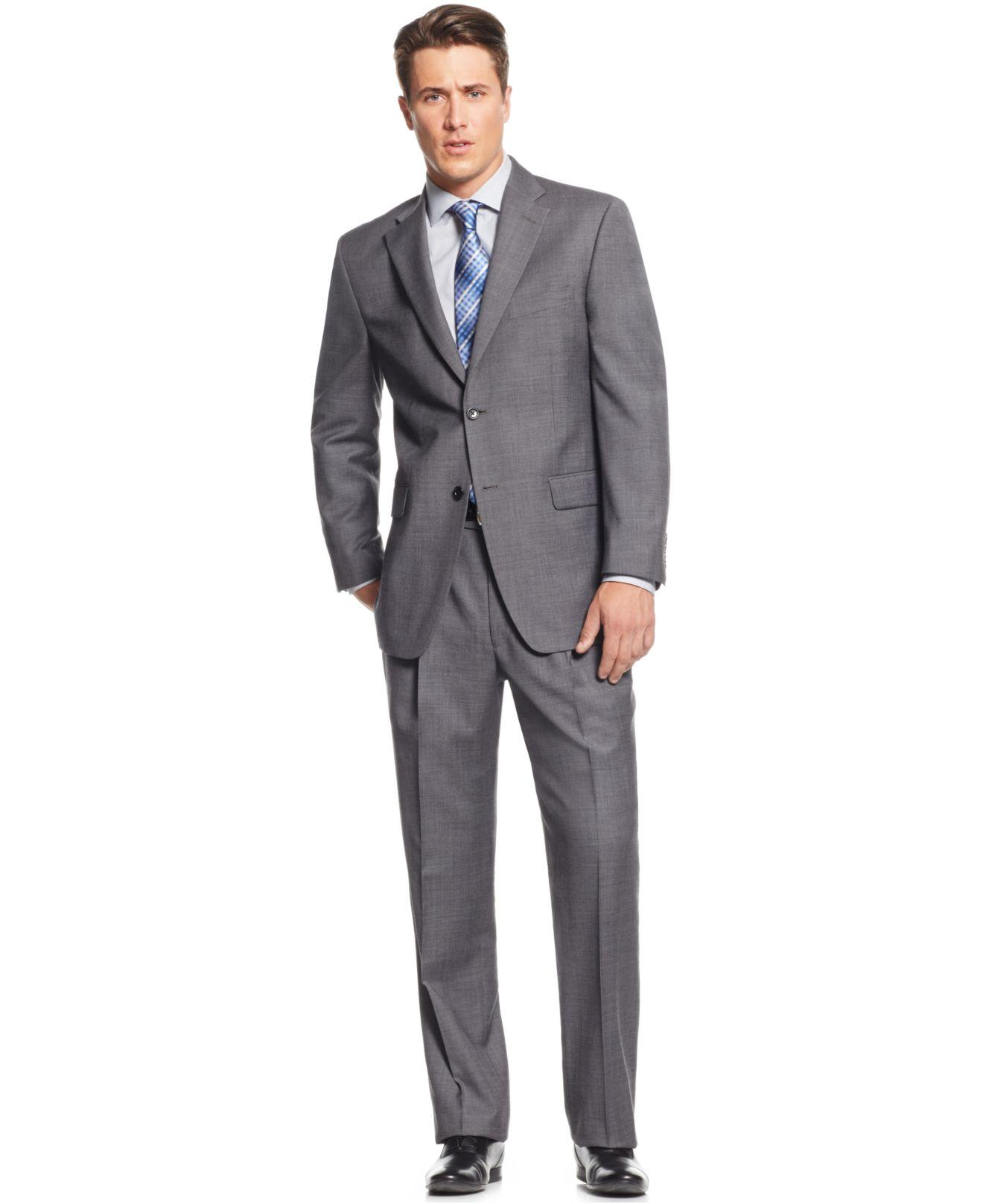 Jones new york Medium Grey Sharkskin Classic-fit Suit in Gray for ...
