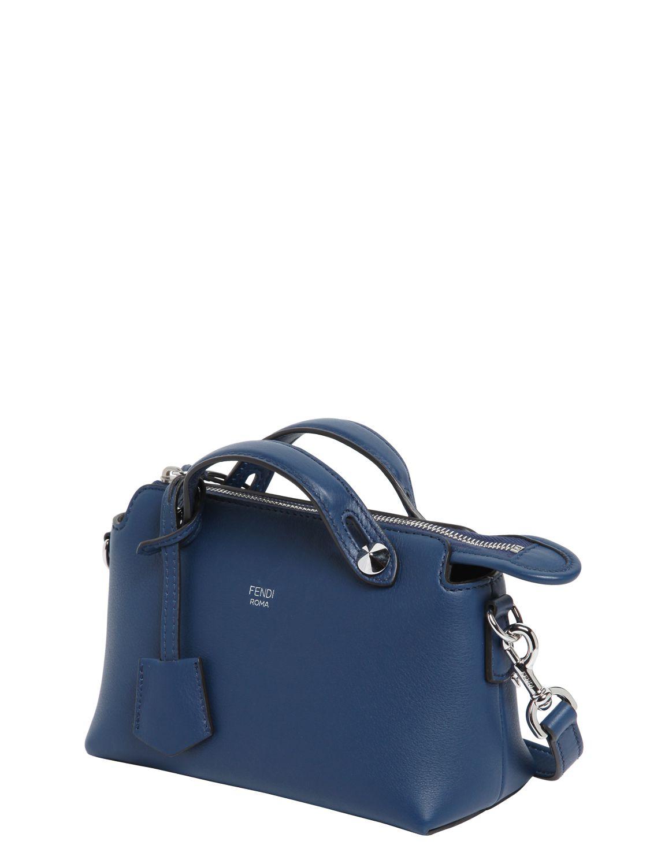Lyst - Fendi Mini  by The Way  Crossbody Bag in Blue 83920b61d7a42