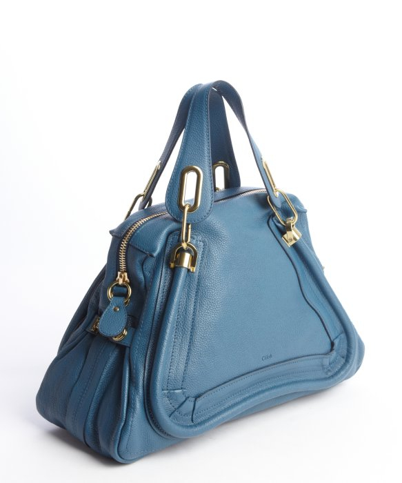 Chlo¨¦ Carribean Blue Leather \u0026#39;Paraty\u0026#39; Convertible Satchel in Blue ...