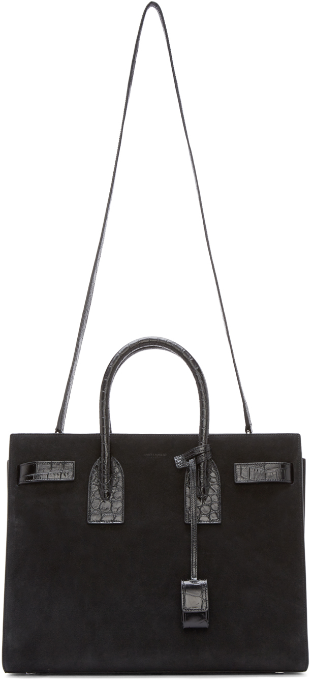 yves saint laurent leather bracelet - sac de jour small suede fringe satchel bag, black
