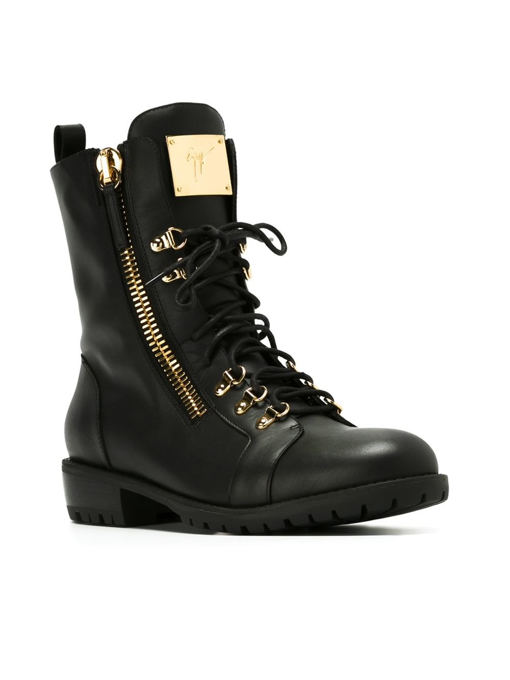 Giuseppe Zanotti Lace up Boots In Black For Men Lyst