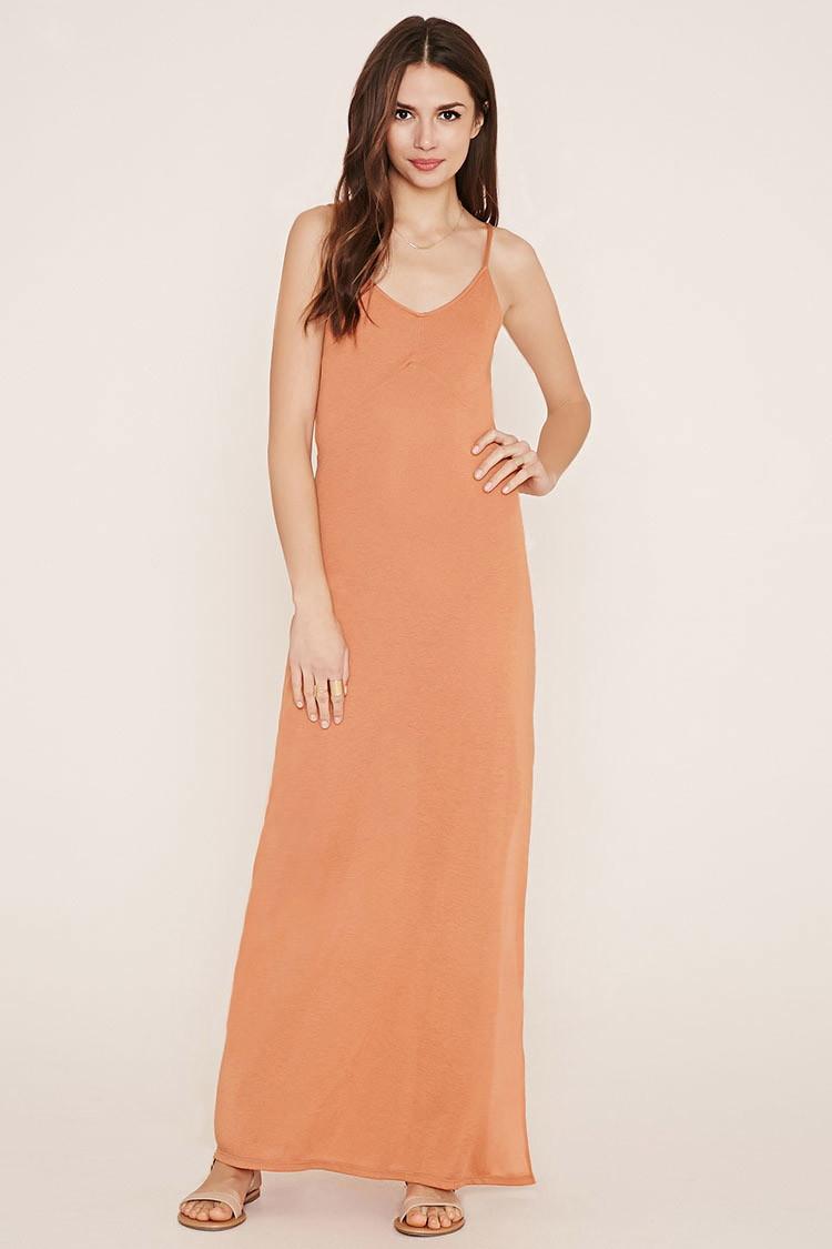 Forever 21 Contemporary Cami Maxi Dress In Orange Lyst