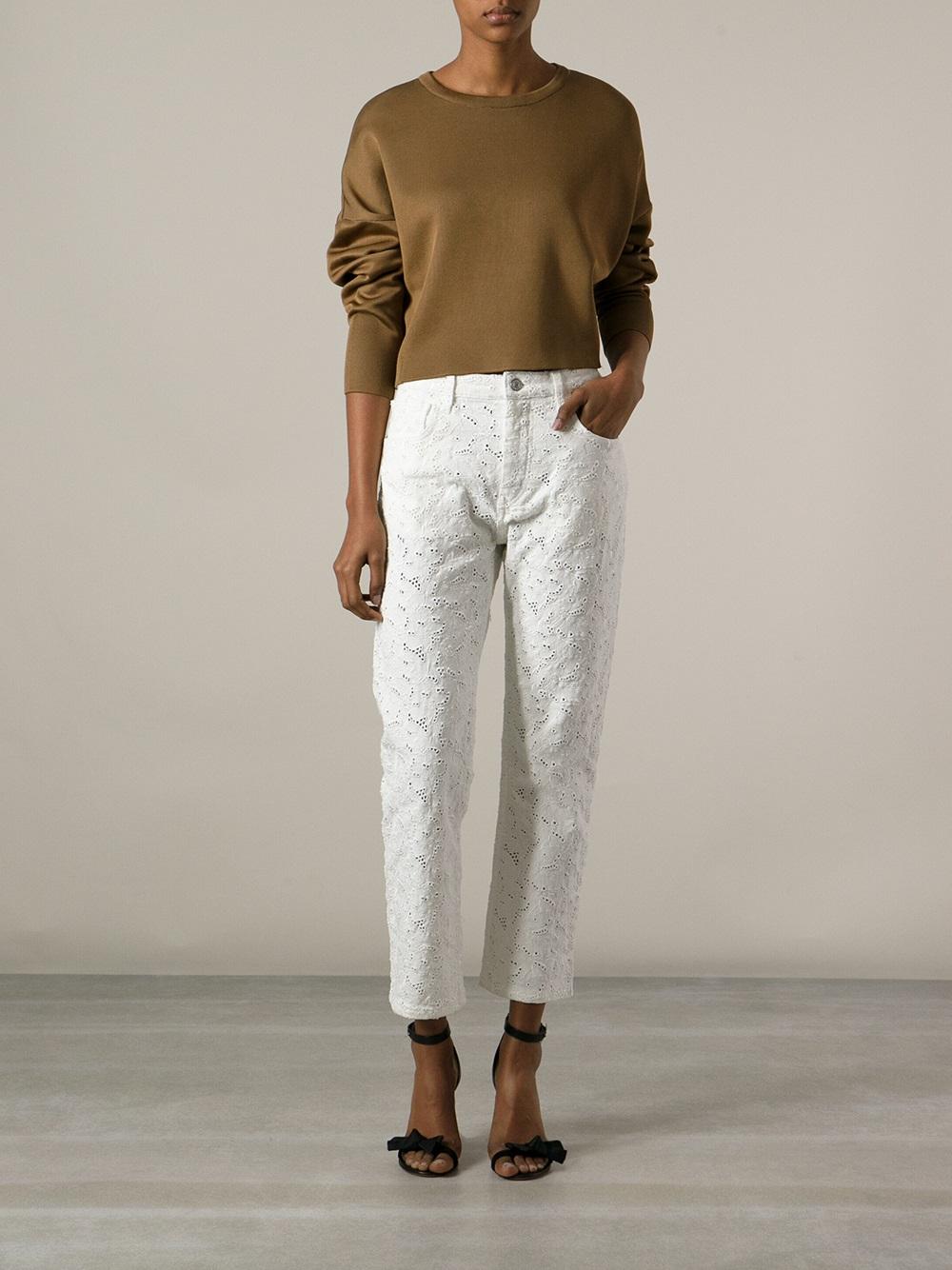 Lyst - U00c9toile Isabel Marant U0026#39;maddyu0026#39; Embroidered Jeans In White
