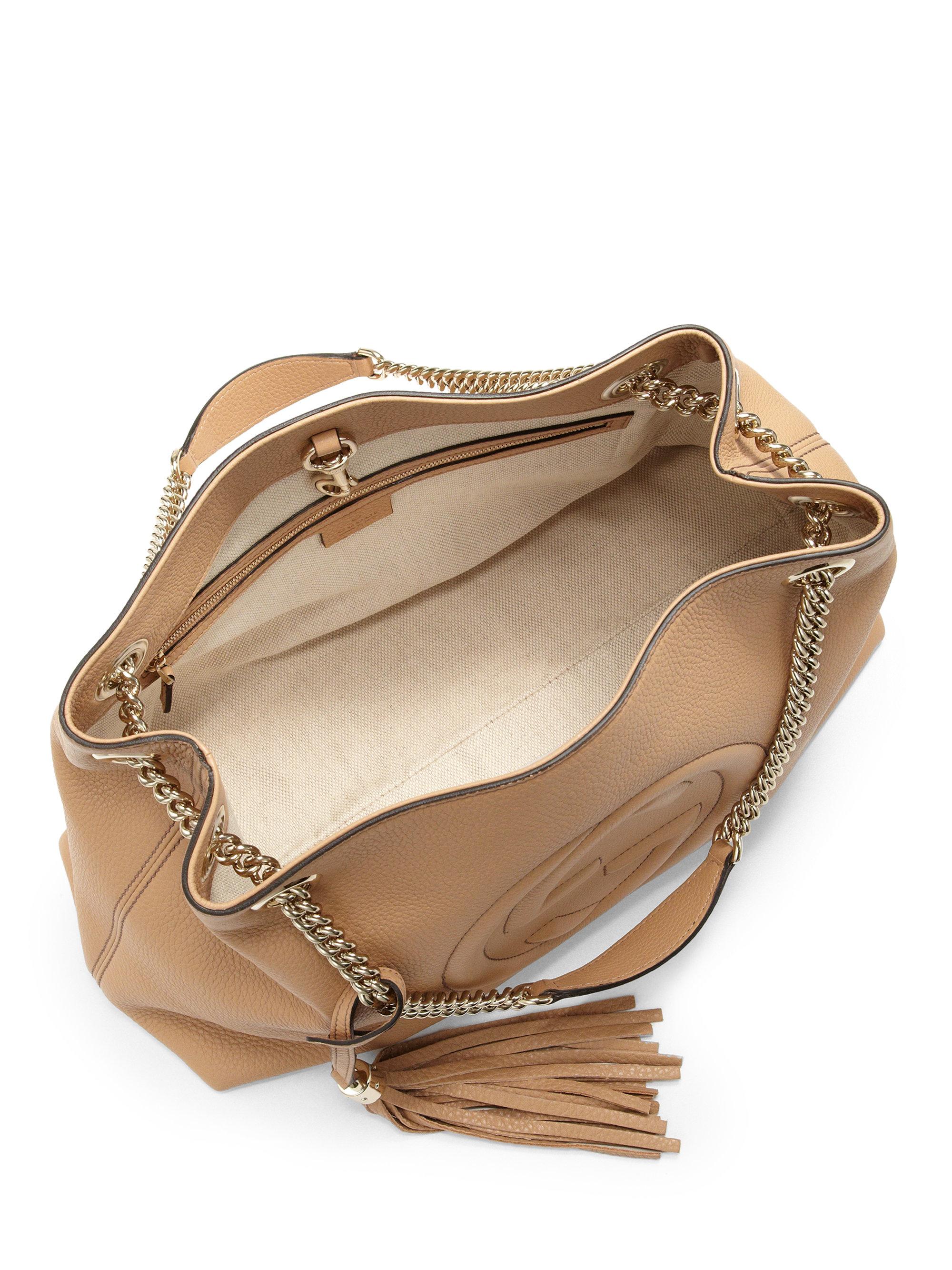 decc4f49baf0 Innovatenortheastflorida.com Lyst Gucci Soho Leather Shoulder Bag In ...