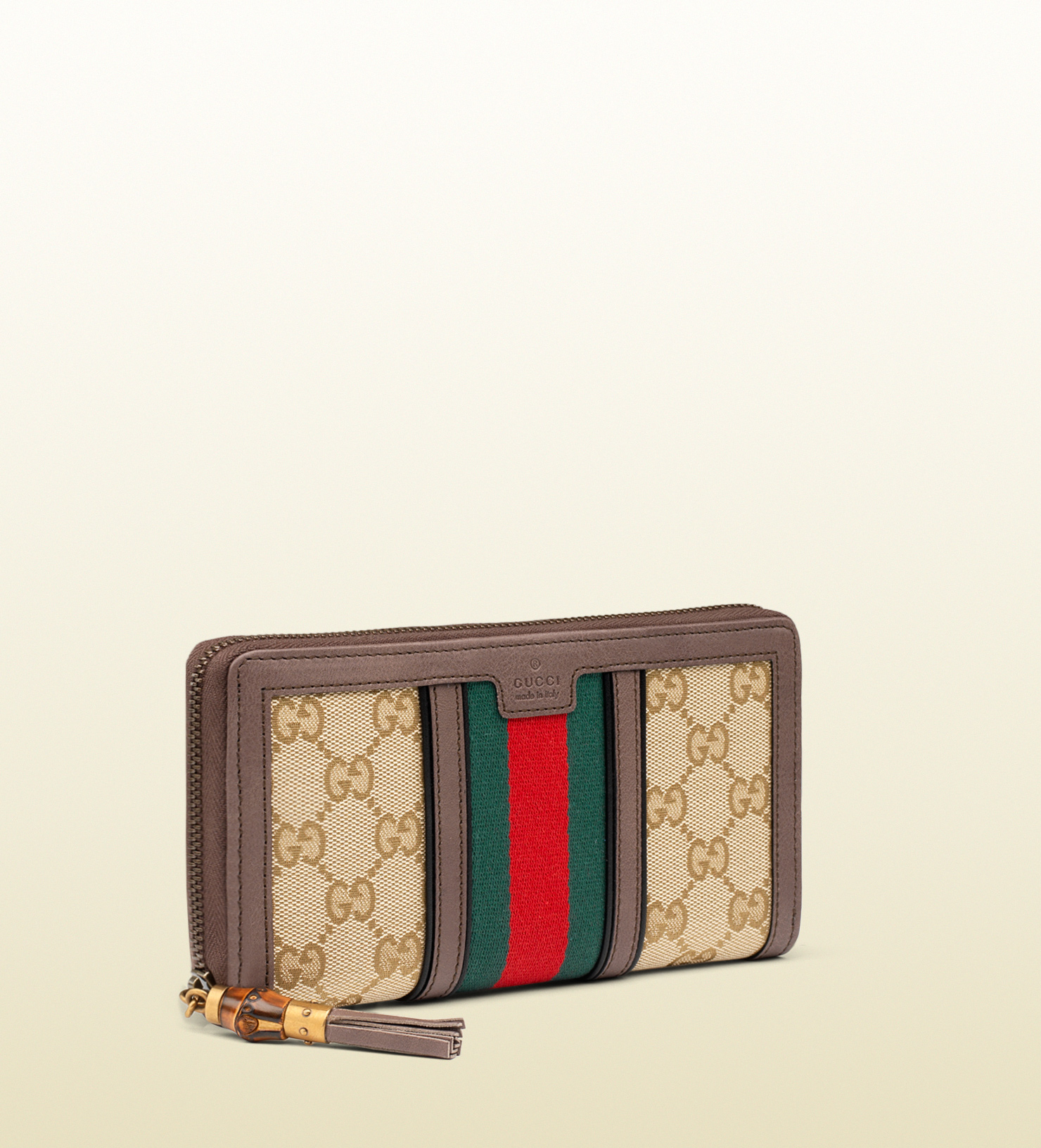 9e9a2f046c1706 Gucci Rania Original Gg Canvas Zip Around Wallet in Red for Men - Lyst