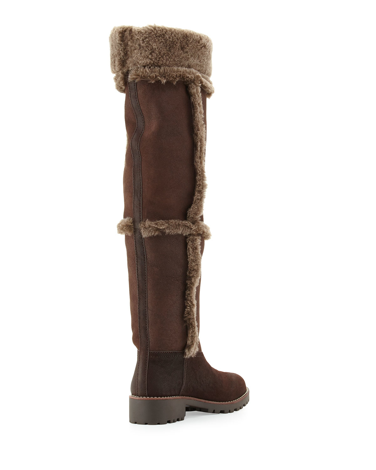 5012a1d4a Lyst - Tory Burch Talouse Shearling Tall Boot in Brown