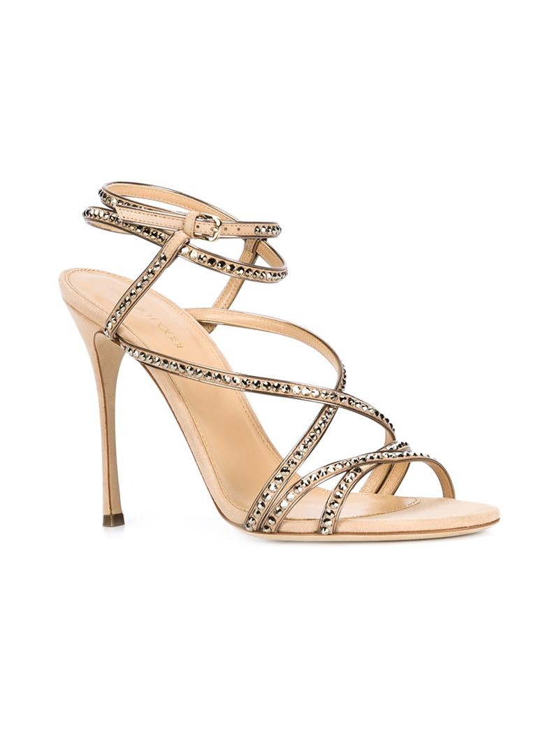 Sergio Rossi Suede Embellished Sandals w/ Tags free shipping great deals gUM3Gi