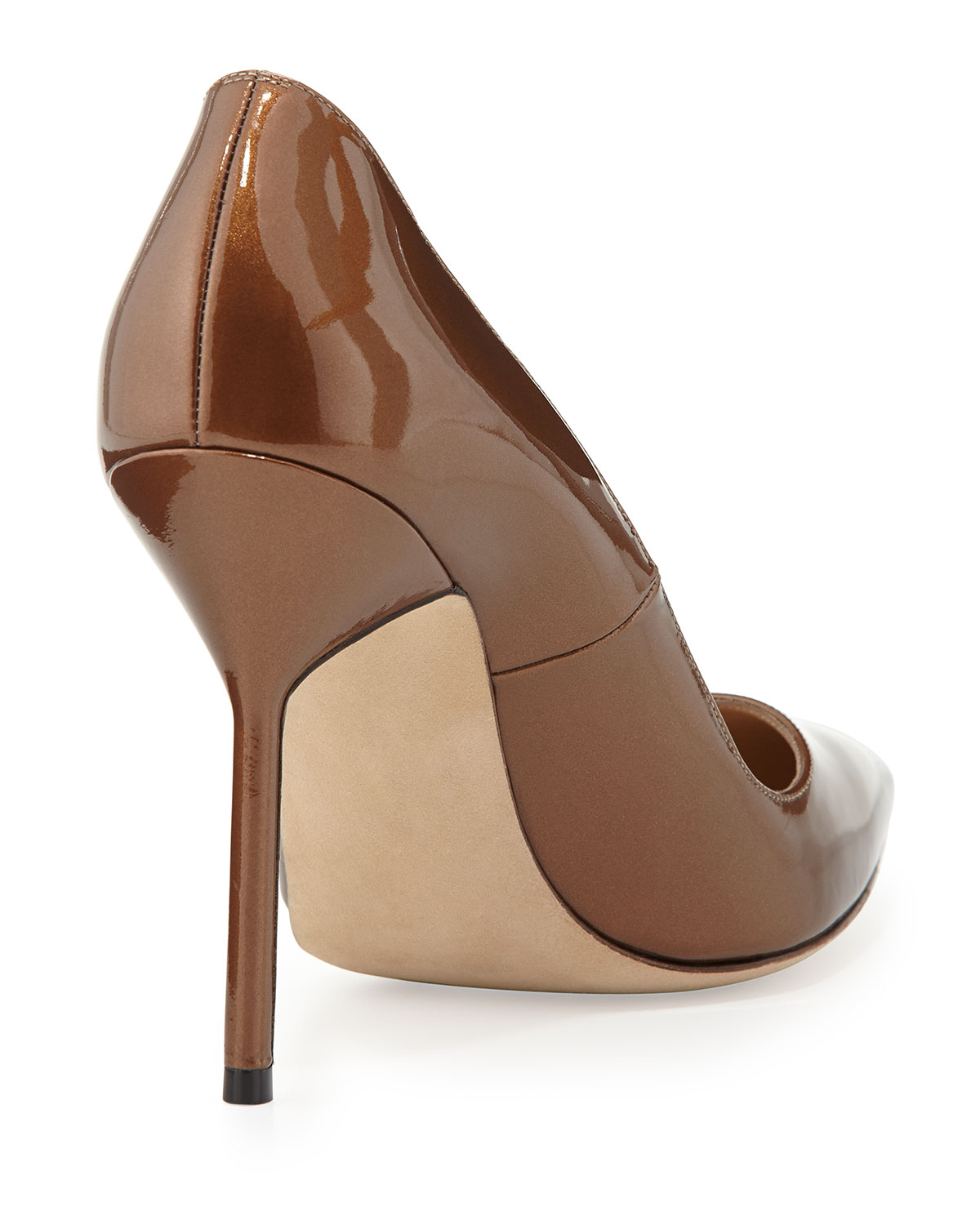 Manolo Blahnik Patent Leather Pointed-Toe Pumps pay with visa cheap online JXyXJXxy