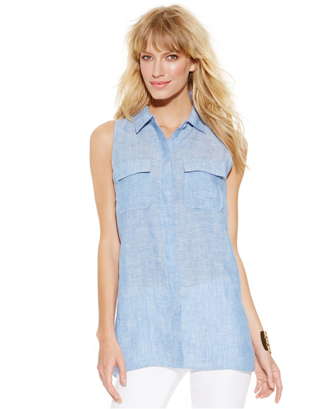 Find sleeveless linen tops at ShopStyle. Shop the latest collection of sleeveless linen tops from the most popular stores - all in one place.