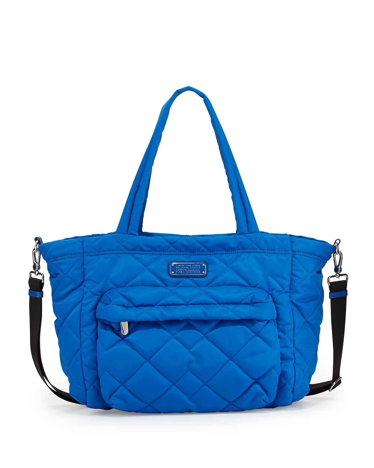 marc by marc jacobs crosby quilt nylon diaper bag in blue lyst. Black Bedroom Furniture Sets. Home Design Ideas