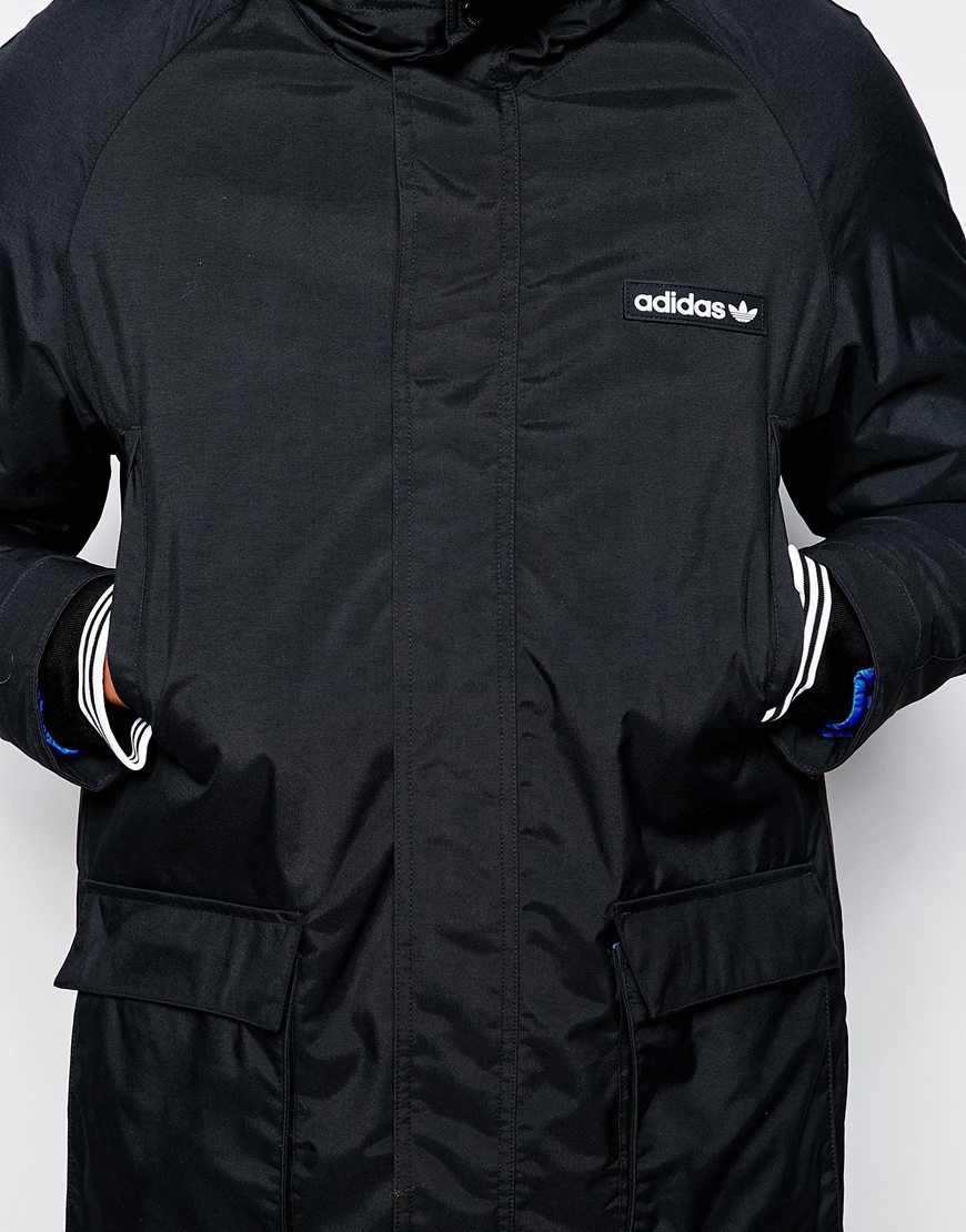 Adidas originals Padded Parka Ab7859 in Black for Men | Lyst