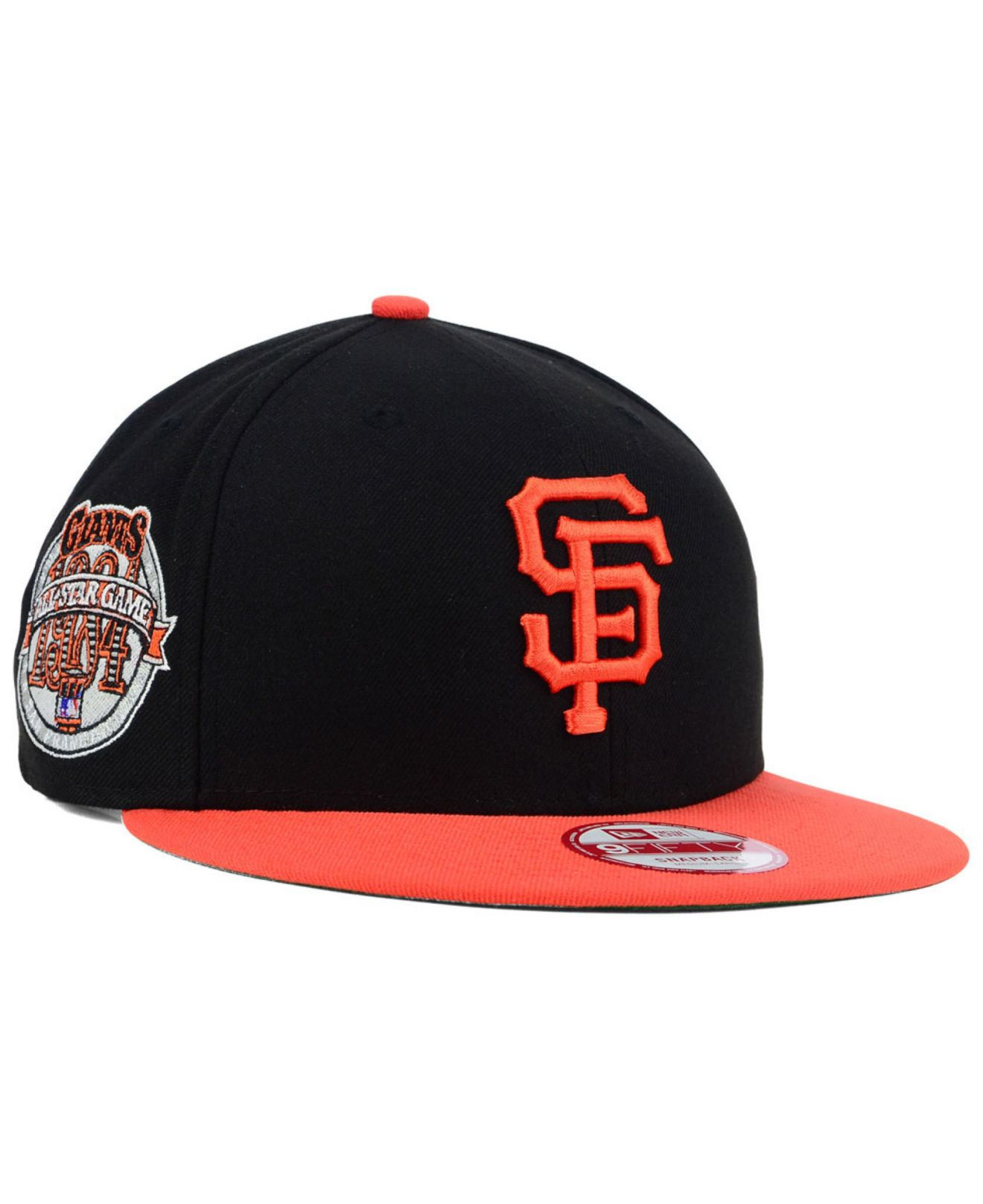 new products 92a62 c0acd ... new era san francisco sf giants game 59fifty 74d56 fbb95  best price  lyst ktz san francisco giants all star patch 9fifty snapback cap in black  for