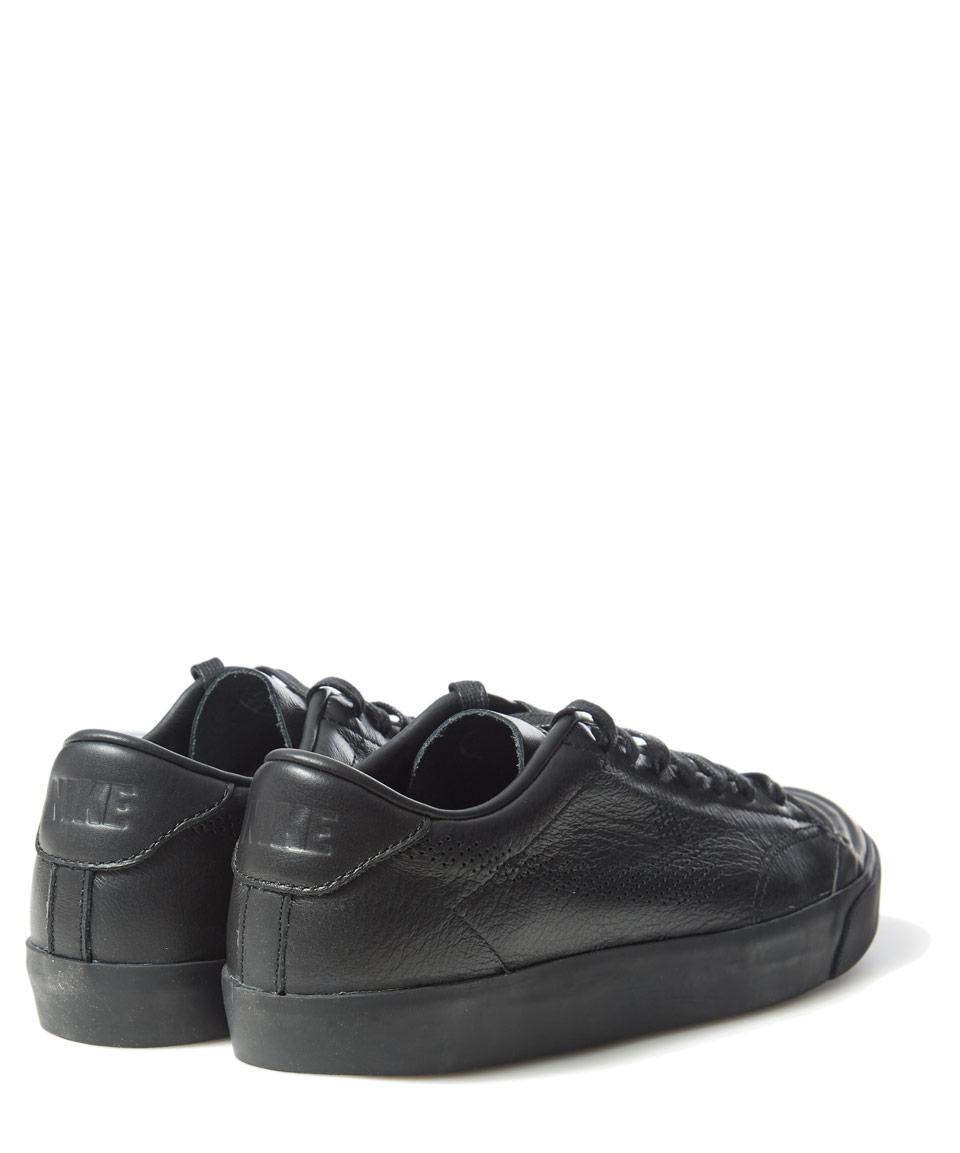 e37366297d Lyst - Nike Black Leather All Court 2 Low Top Trainers in Black