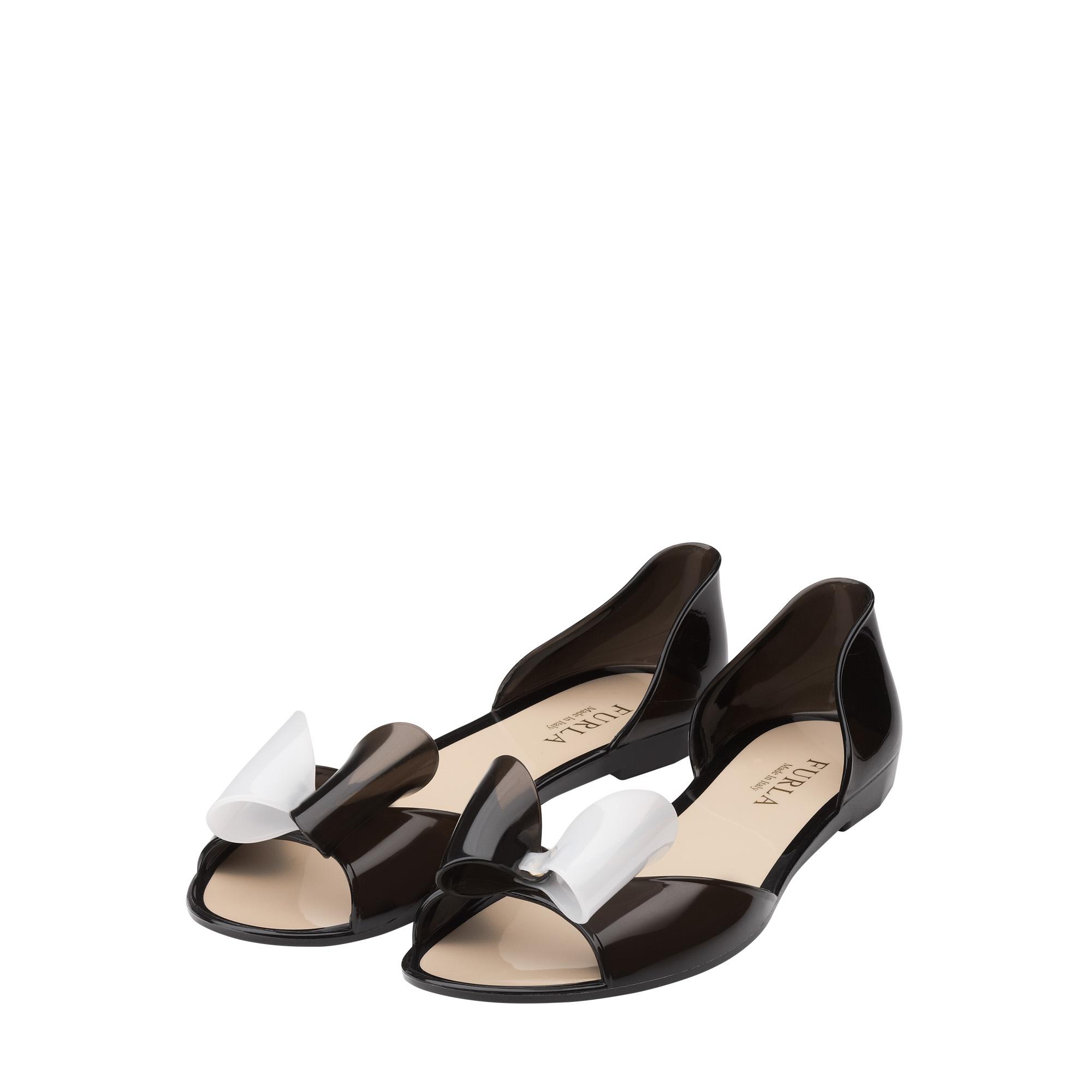 e9b757f66666 Furla Alissa Jelly Sandals in Black - Lyst
