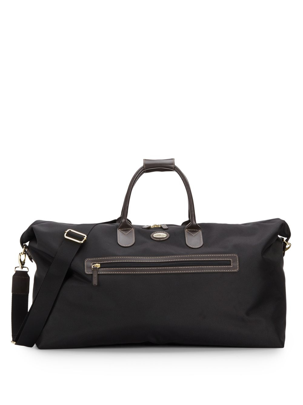 Bric's 22-inch Leather Trimmed-canvas Duffel Bag in Black for Men ...
