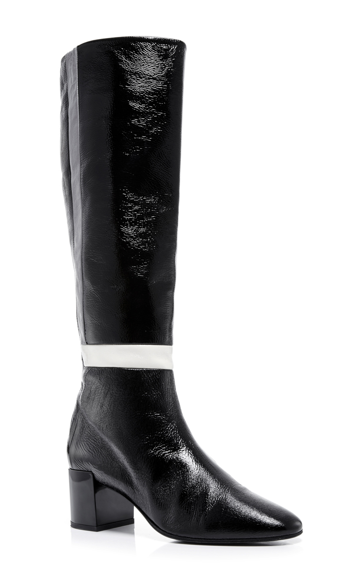 Lyst Pierre Hardy Black And White Patent Leather Tetrix