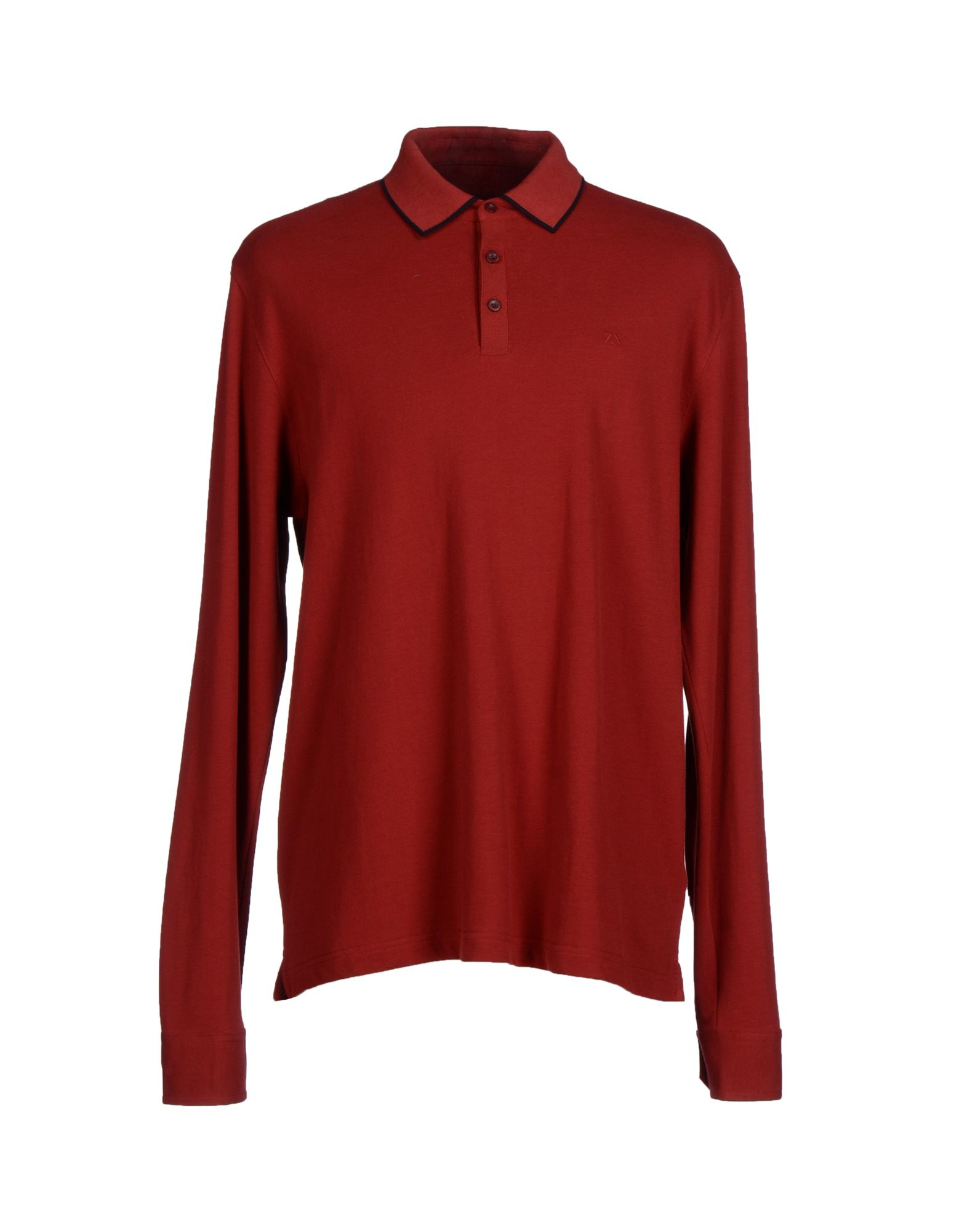 Zegna sport polo shirt in red for men brick red lyst for Zegna polo shirts sale