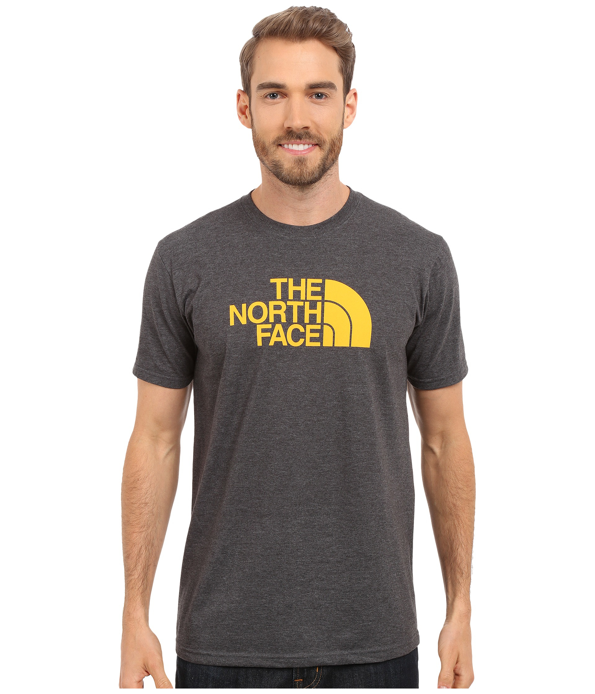 55e058d6bd07 Lyst - The North Face Short Sleeve Half Dome Tee in Gray for Men