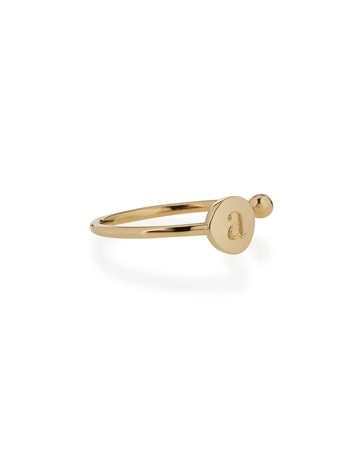 Sarah Chloe Rocha 14k Gold Initial Open Diamond Ring yC34rqF