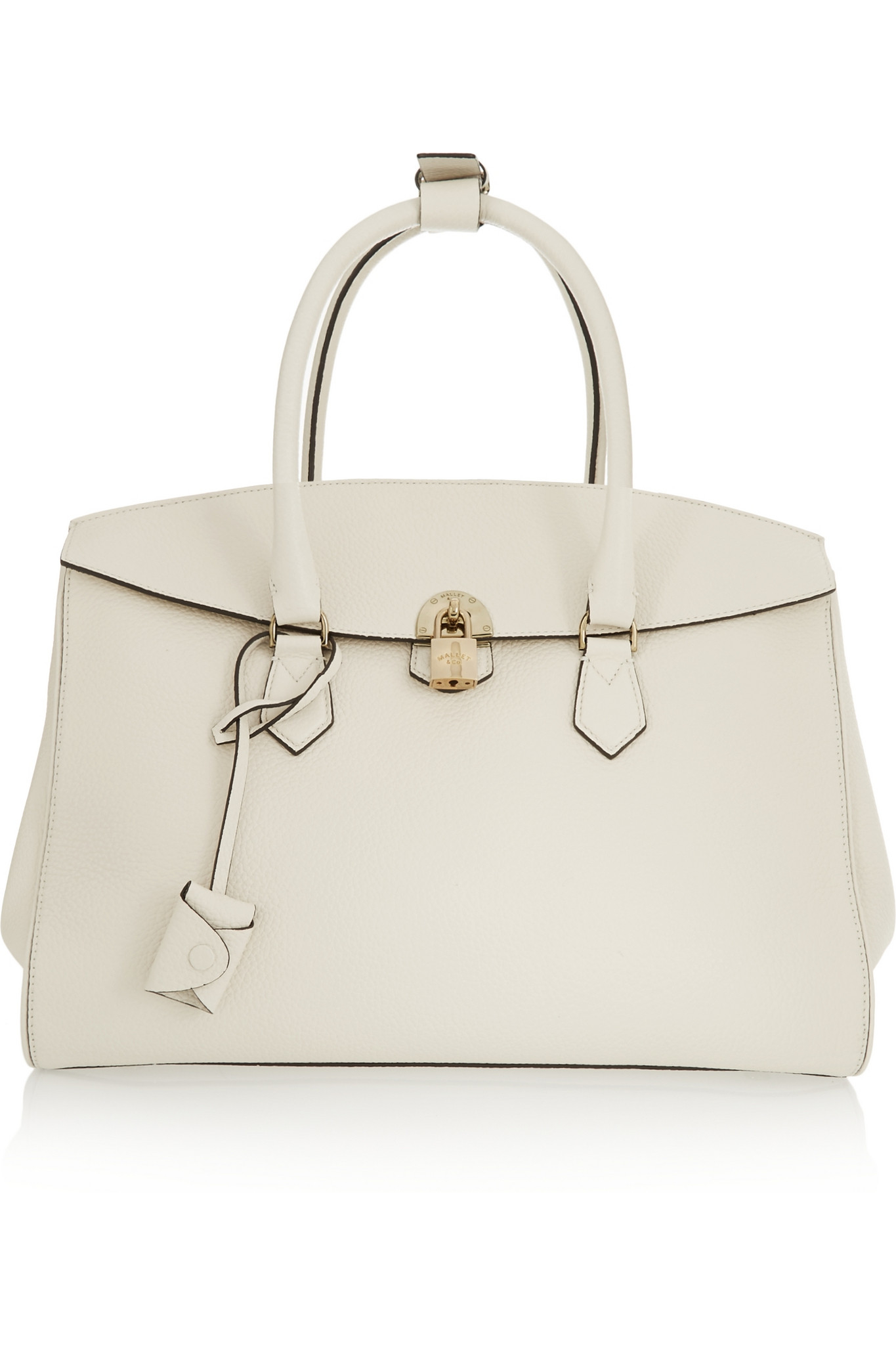 434c318d0c Mallet   Co Zeus Textured-leather Tote in White - Lyst