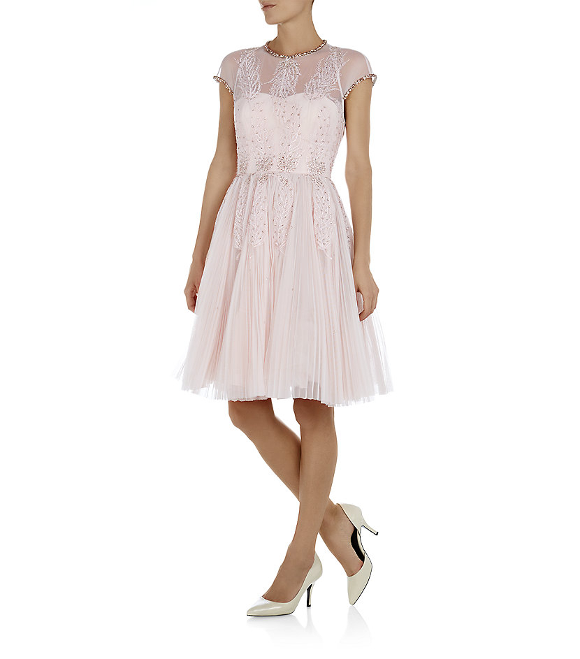 feccd6790b721 Ted Baker Miska Embellished Prom Dress in Pink - Lyst