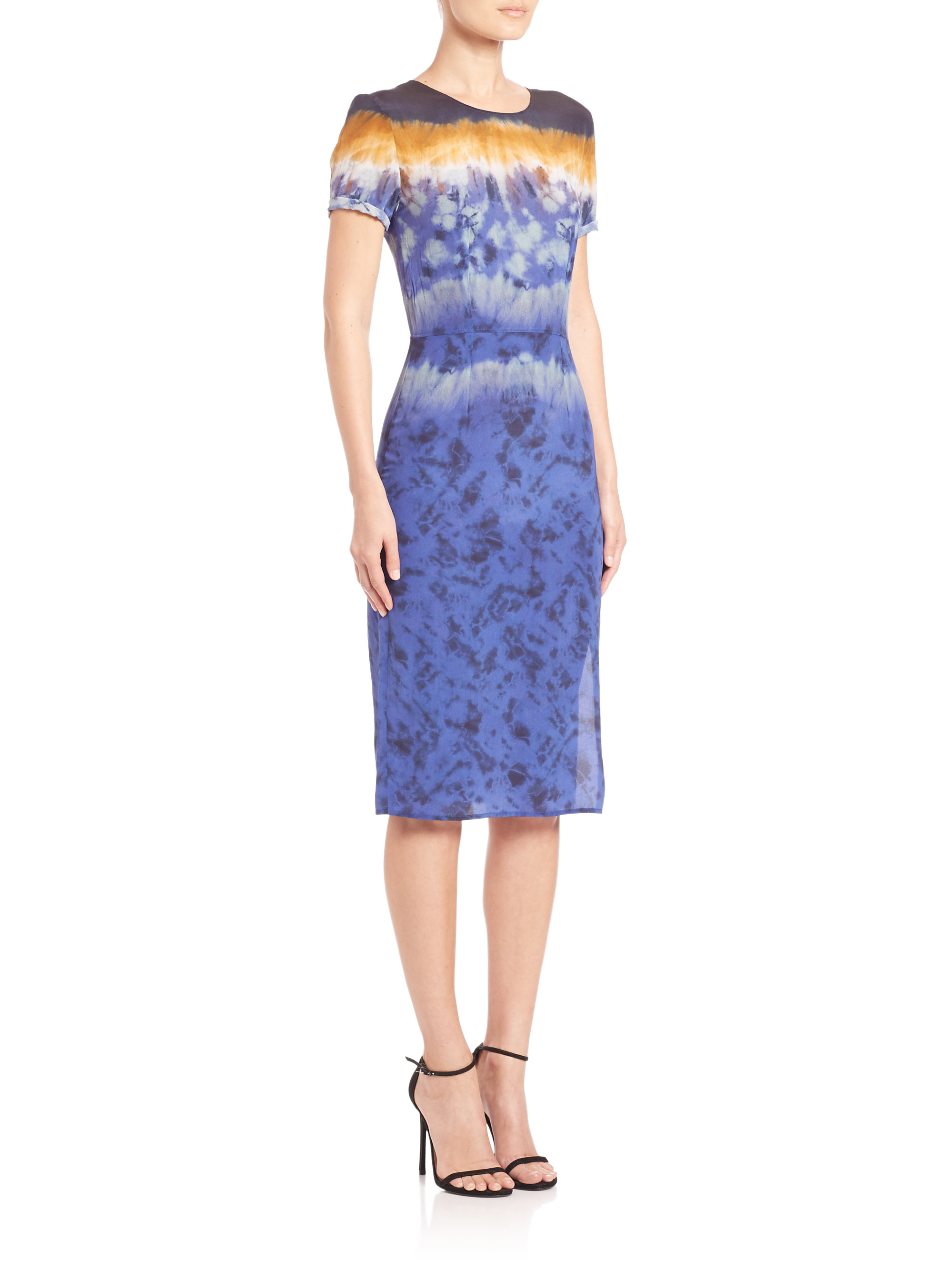 Womens Tie-Dyed Silk Midi-Dress Altuzarra agsSDn